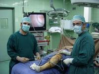 تصویر 3. وضعیت قرارگیری بیمار حین آرتروسکوپی